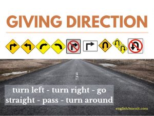 giving direction in English