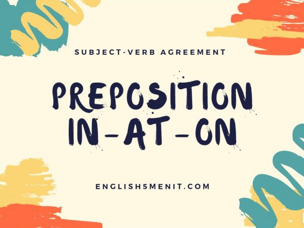 preposition in at on