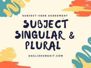 singular and plural subject