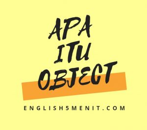 Object dalam bahasa Inggris