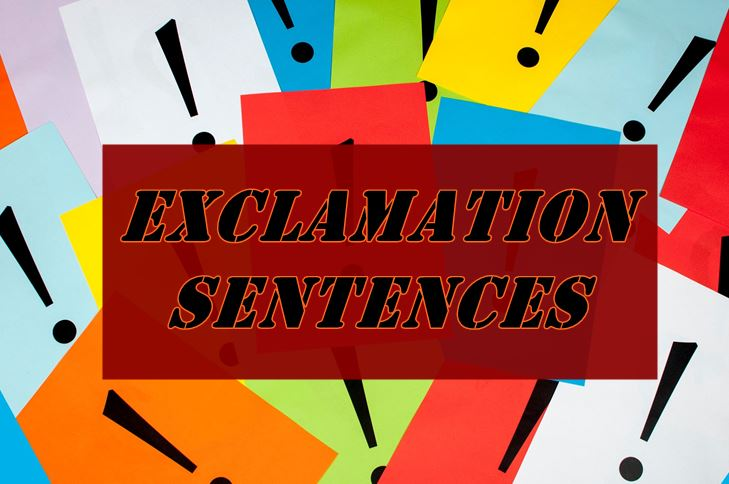 exclamation sentence, Cara penggunaannya dalam bahasa Inggris